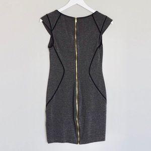 e2f63c39ffbd Express Dresses - Dark Gray Express Bodycon Dress w  Black Piping